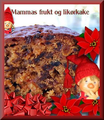 Likør- og fruktkake til jul
