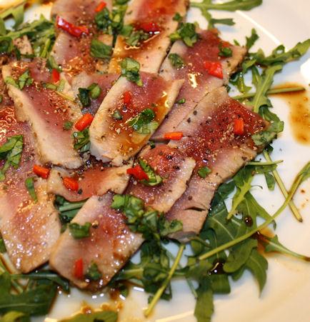 Lekker tunfiskcarpaccio