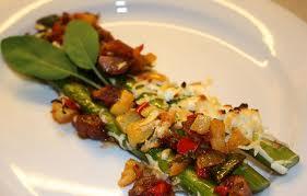 Chorizo med asparges