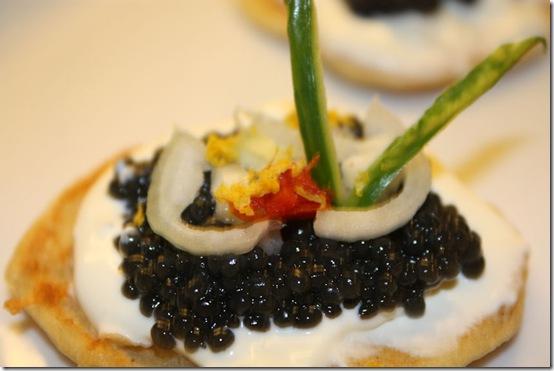 Blinis med belugakaviar