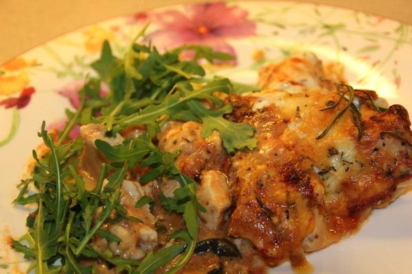 Lasagne med kylling, rosmarin og squash