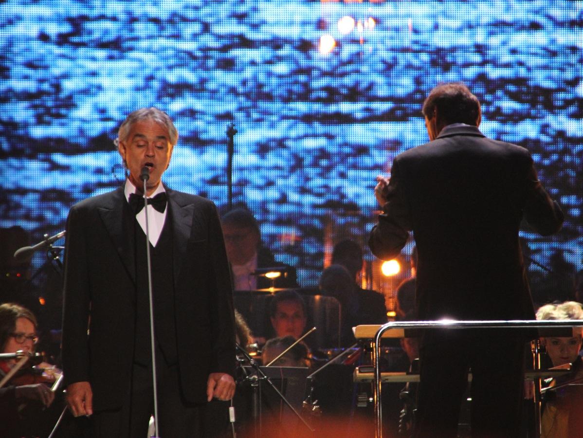 Konsert med Andrea Bocelli i Wroclaw