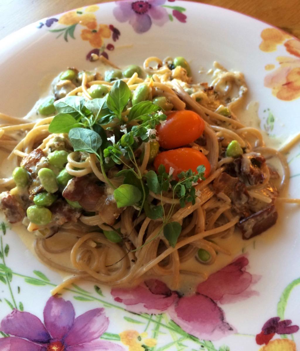 Spaghetti Carbonara med sting