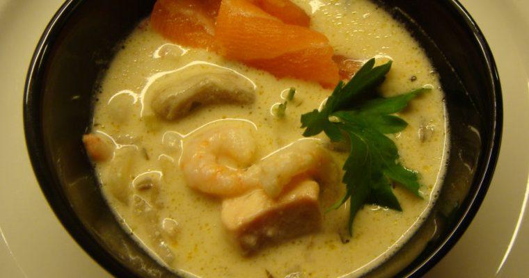 Norsk-asiatisk fiskesuppe