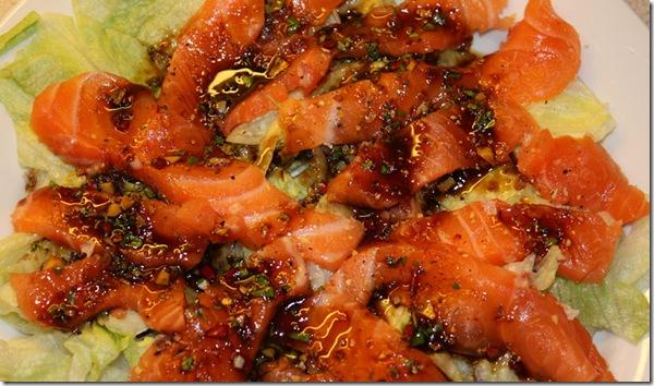 Sashimi med nydelig ponzusaus