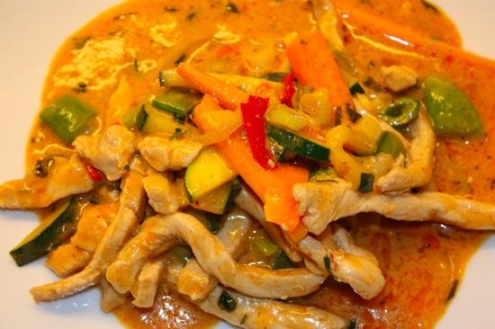 Thailandsk curry med svinefilét
