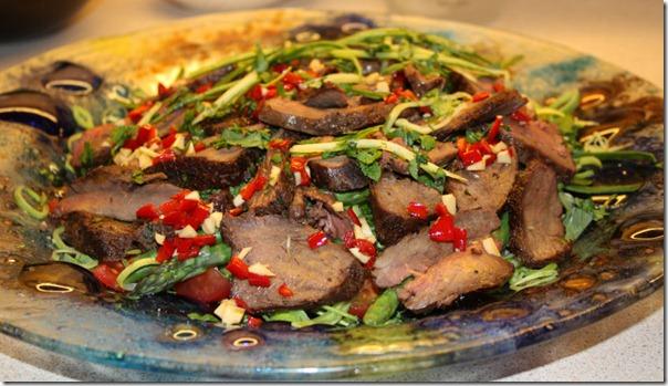 Thailandsk biffsalat (Yaw Neuva )