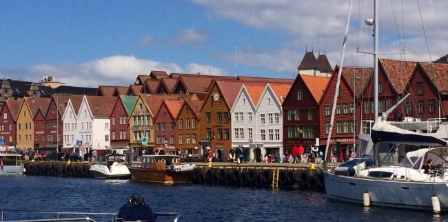 Bildedryss fra Fisketorget i Bergen