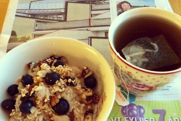 Deilig kjøleskapsgrøt/Overnight porridge