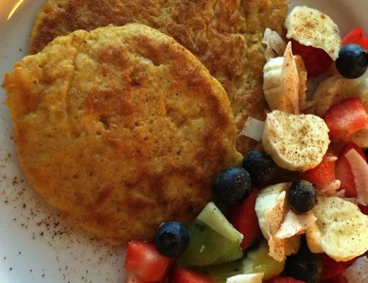 Sunne frokostlapper med cottage cheese og havregryn