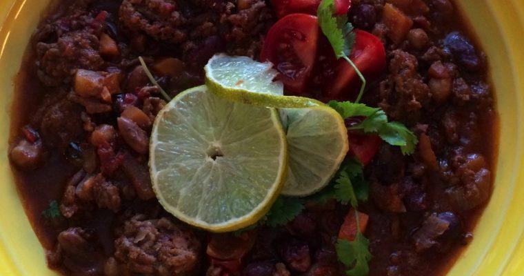 Chili con Carne med sjokolade