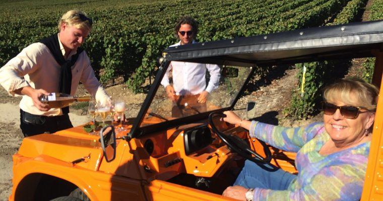 Med champagneprodusenten Moutardier blant vinstokkene