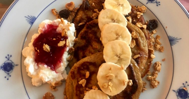 Sunne bananpannekaker til frokost