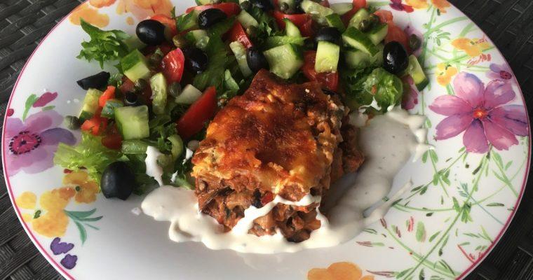 Auberginegrateng – vegetar